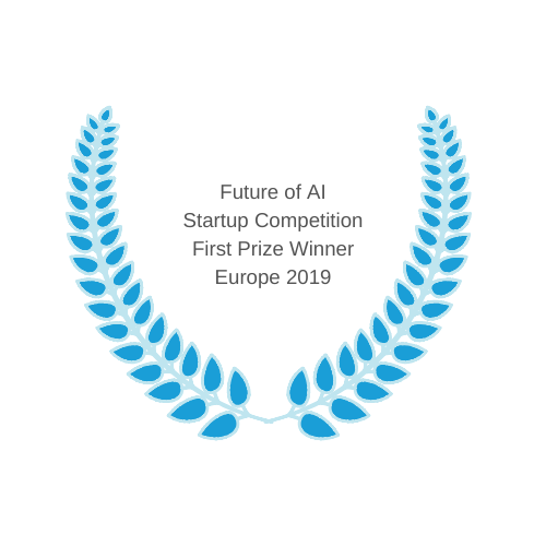 Future of AI Startup Competition First Prize Winner Europe 2019