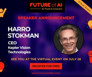 Speaker announcement Future of AI Harro Stokman, CEO of Kepler Vision Technologies